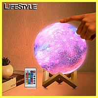 Настольный ночник 3D Космос с пультом - Magic 3D Moon Light RGB / Настольная лампа, фото 1