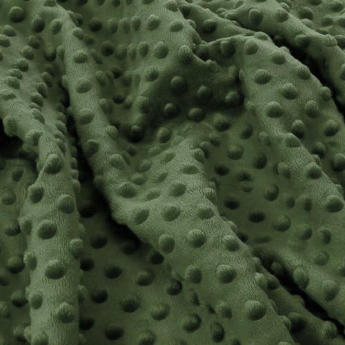 Отрез плюш Minky бутылочный зеленый 45х140 см