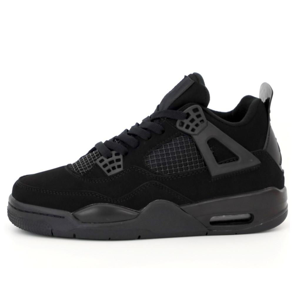 Мужские кроссовки Nike Air Jordan 4 Retro Black Cat, кроссовки найк аир джордан 4 ретро кросівки Nike Jordan 4