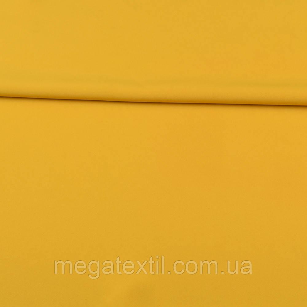 Креп костюмный бистрейч горчично-желтый ш.150 (10301.044)