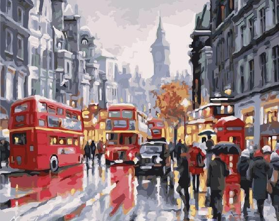 Картина рисование по номерам Brushme Шумный Лондон GX21871 40х50см набор для росписи, краски, кисти холст