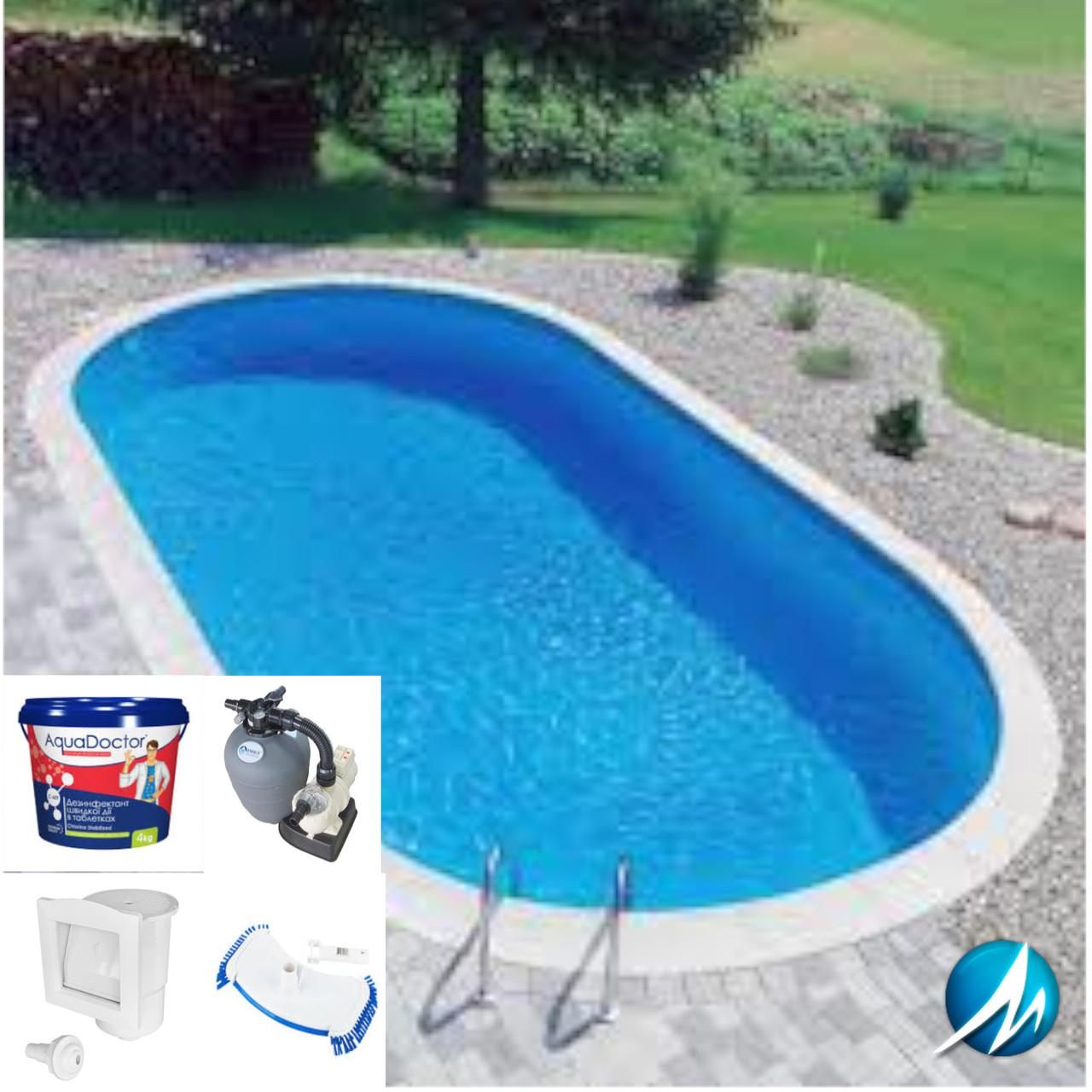 Комплект оборудования для овального сборного бассейна 5.00х9.00 м