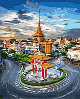 Картина рисование по номерам Brushme Рассвет в Бангкоке GX36387 40х50см набор для росписи, краски, кисти холст