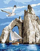 Картина рисование по номерам Brushme Прогулка у скал     BK-GX31197 набор для росписи, краски, кисти, холст