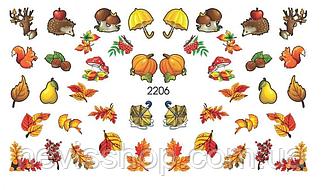 Слайдер-дизайн - FoniX 2206 - Аквварель, Осень