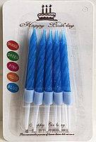 Свечи для торта неоновые 10 штук