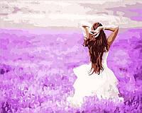 Картина рисование по номерам Mariposa Лавандовые мечты  Q2081 40х50см  набор для росписи, краски, холст, кисти