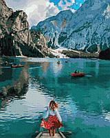 Путешественница у озера Брайес