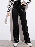 Жіночі оксамитові штани труби, фото 1
