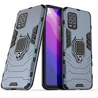 Чехол Ring Armor для Xiaomi Mi 10 Lite Blue