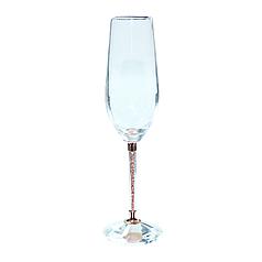 Келих для шампанського прозорий на оригиналькой ніжці 220мл скляний