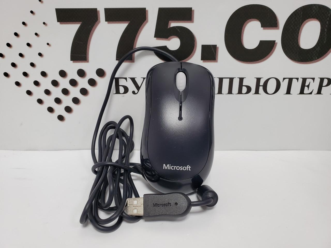 Проводная USB мышь Microsoft Basic Optical Mouse Black