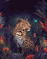 Картина по номерам 40х50см. GX35373 Волшебный гепард Rainbow