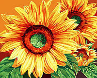 Картина рисование по номерам Brushme Роскошные подсолнухи 40х50см рисование роспись по номерам, кисти, краски,