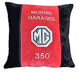 Автомобильная подушка с вышивкой логотипа машины Jaguar ягуар подарок шефу, фото 2