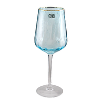 Бокал под вино на 550 мл Волна голубого цвета стекло для ресторана, фото 1