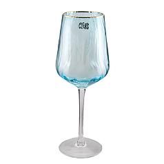 Келих під вино на 550 мл Хвиля блакитного кольору скло для ресторану