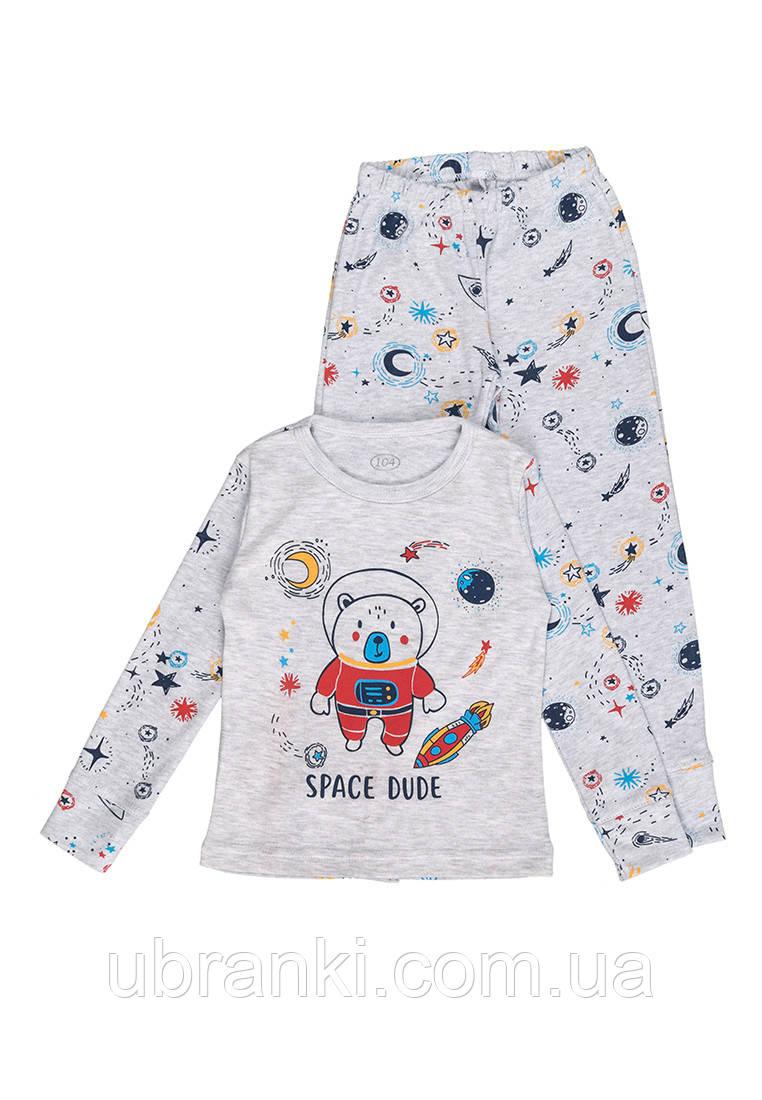 Пижама для мальчика теплая с печатью