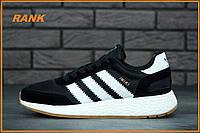 Кроссовки мужские Adidas Iniki Runner Boost Black White в стиле Адидас Иники Раннер Буст черно белые