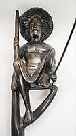 "Статуэтка чёрное дерево ""рыбак"" Шри-Ланка"