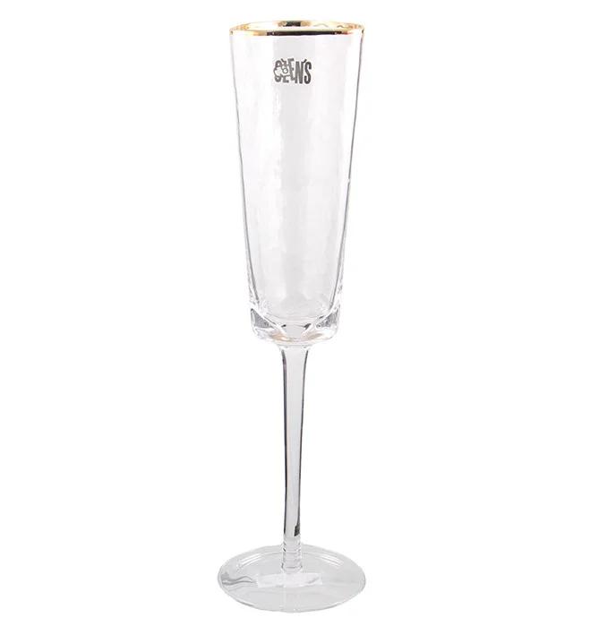 Фужер для шампанского в кафе ресторанах и дома 150 мл прозрачный с разводами