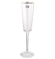 Фужер для шампанского в кафе ресторанах и дома 150 мл прозрачный с разводами, фото 1