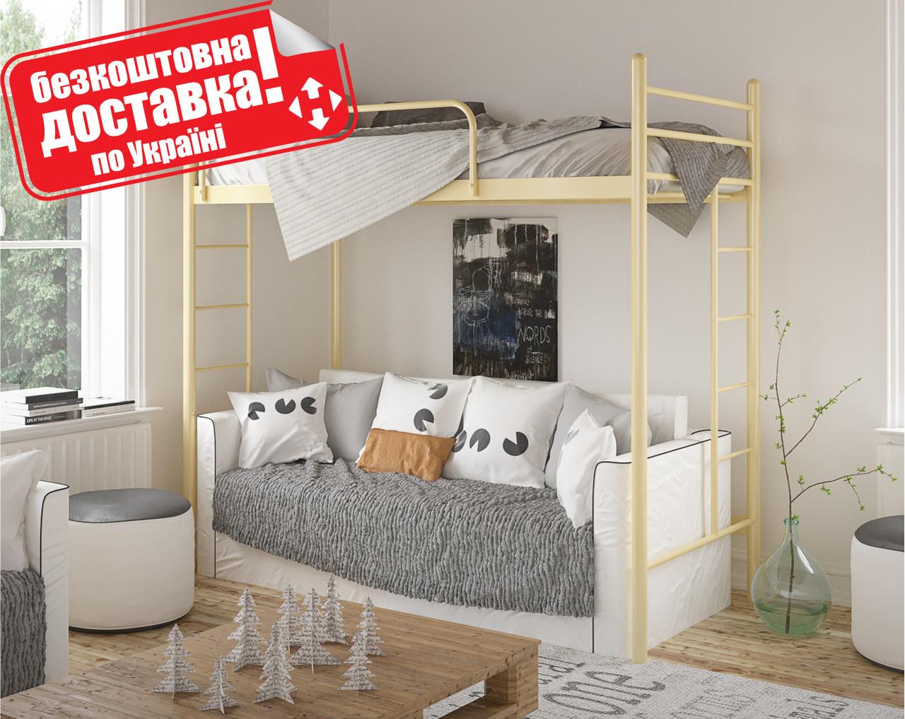 Кровать двухъярусная детская металлическая Эдельвейс Чердак МФ Тенеро