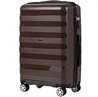 Дорожный чемодан полипропилен PP05 коричневый размер M (средний), фото 1