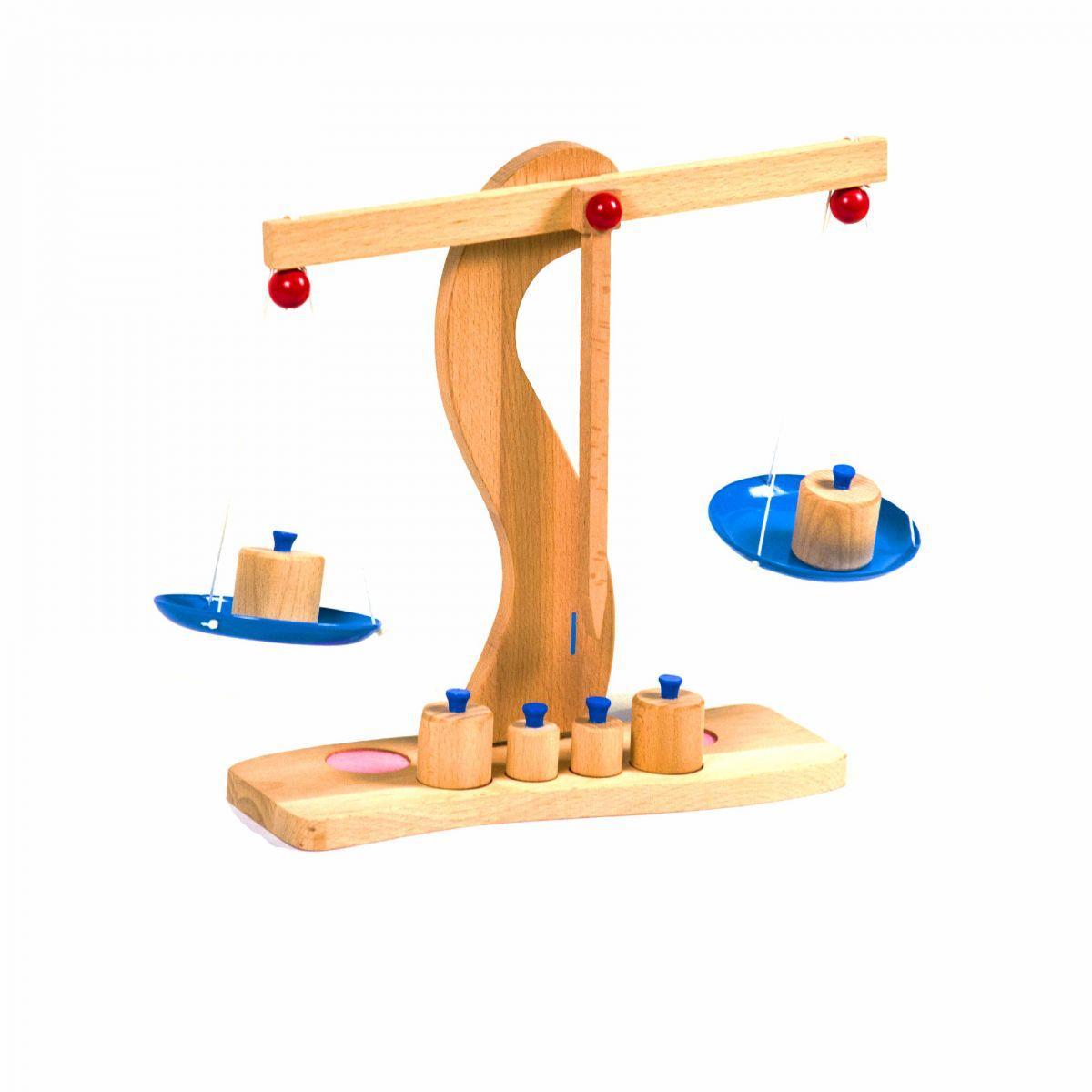 Игровые деревянные весы с гирьками Д680у