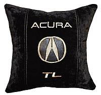Авто подушка с вышивкой логотипа машины Acura акура подарок сувенир