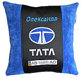 Авто подушка с вышивкой логотипа авто Мини Купер подарок сувенир, фото 3