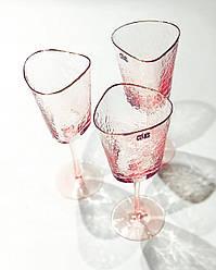Келих для коктейлю рожевий 350мл для кафе ресторанів і вдома