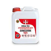 Антисептик для кожи рук спиртовой MDA 72+ 5 л антибактериальное средство для рук дезинфектор