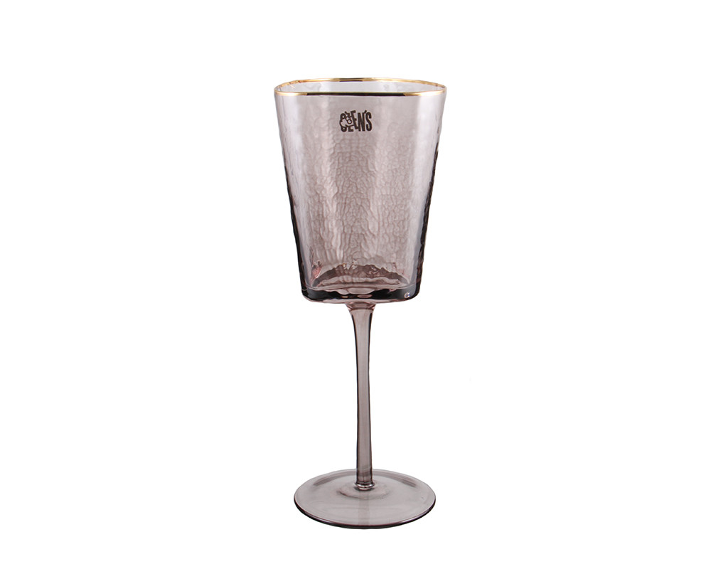Бокал для вина из темного стекла 350 мл для кафе и ресторанов
