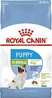 АКЦИЯ! Сухой корм Royal Canin X-Small Puppy для щенков мелких пород, 3КГ + 12паучей