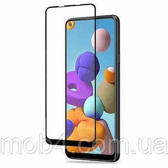 Защитное стекло для Samsung Galaxy (Самсунг) A21S (На весь экран)