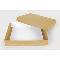 Подарочная картонная коробка с крышкой крафт (280 х 230 х 50)