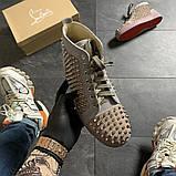 Женские кроссовки Christian Louboutin Louis Spikes, женские кроссовки кристиан лубутен, фото 2