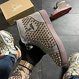Женские кроссовки Christian Louboutin Louis Spikes, женские кроссовки кристиан лубутен, фото 3
