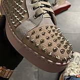 Женские кроссовки Christian Louboutin Louis Spikes, женские кроссовки кристиан лубутен, фото 4