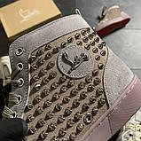 Женские кроссовки Christian Louboutin Louis Spikes, женские кроссовки кристиан лубутен, фото 5
