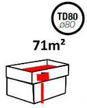 Водосточная воронка ф80 Темно-серая 7016 для отвода воды с плоской кровли с парапетом, фото 8
