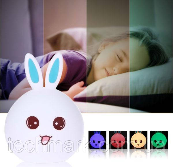 """Настольный светильник Детский силиконовый ночник """"Кролик"""""""