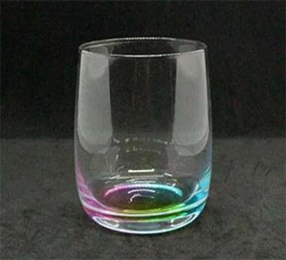 Стакан из цветного стекла с переливами 375 мл для напитков