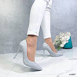 Туфли лодочки серые 13688, фото 2