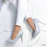 Туфли лодочки серые 13688, фото 3