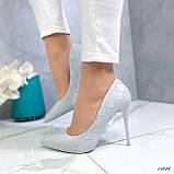Туфли лодочки серые 13688, фото 6