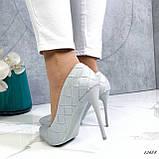 Туфли лодочки серые 13688, фото 7