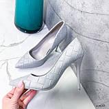 Туфли лодочки серые 13688, фото 10