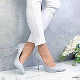 Туфли лодочки серые 13688, фото 9